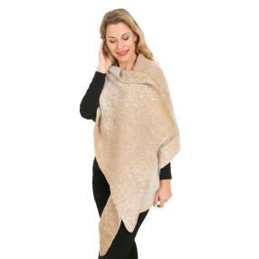 XL Schal mit Wolle 2 Tone