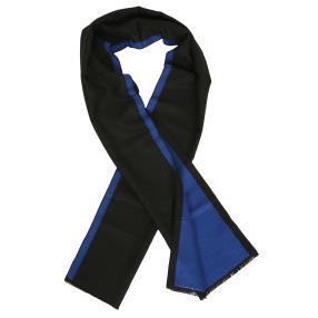 Herrenschal mit Kaschmir blau schwarz