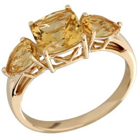 STAR Ring 750 Gelbgold AAA Aquamarin gelb