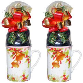 Kaffeebecher Glockendekor 2er Set