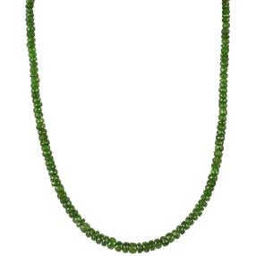 Collier Chromdiopsid, ca. 90ct, ca. 45+5cm