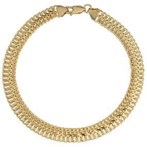 Sadusa-Armband 585 Gelbgold, ca. 19,5cm