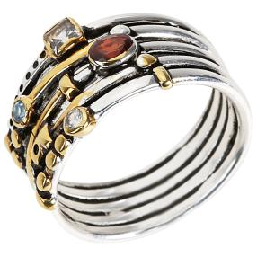 Ring 925 Sterling Silber bicolor