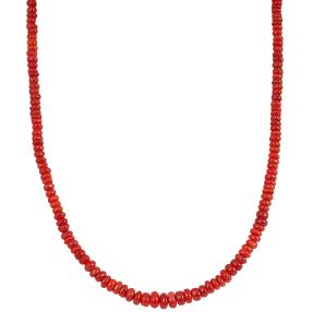 Collier Äthliopischer Opal rot, ca. 55ct.
