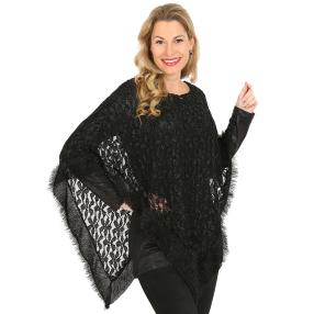 VV by J. Leibfried Set 'Sue'(Poncho/Shirt) schwarz