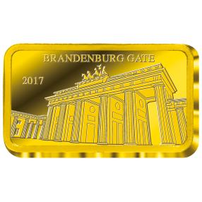 Goldbarren Brandenburger Tor II