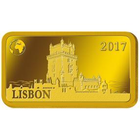 1G Goldbarren Lissabon
