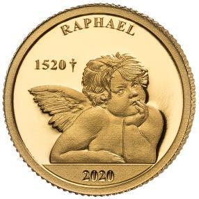 Goldmünze Raphael