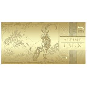 Goldbanknote Alpensteinbock
