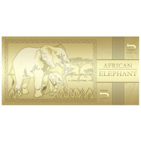 Goldbanknote Afrikanischer Elefant