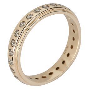 Ring 375 Gelbgold Brillanten champagner