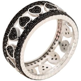Ring 925 Sterling Silber Spinell Herz