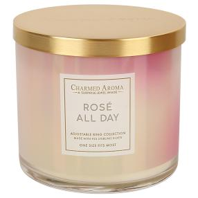 CHARMED AROMA Duftkerze Rosé all Day  350g