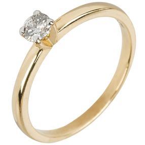 Ring 585 Gelbgold Solitär 0,25ct