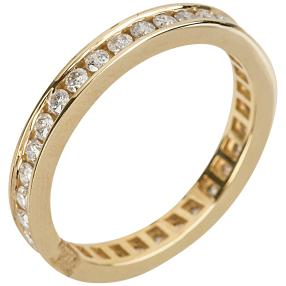 Ring 585 Gelbgold Eternity, 1ct