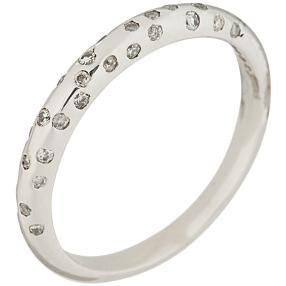 Ring 585 Weißgold Diamant, ca. 0,20 ct