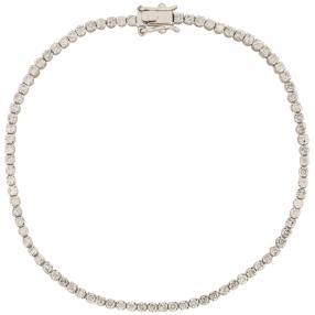 Tennisarmband 585 Weißgold, ca. 2,5 ct