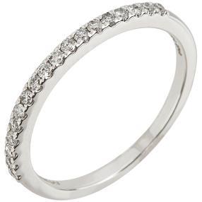 Ring 585 Weißgold Diamant, ca. 0,25 ct.