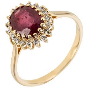 Ring 585 Gelbgold Rubin