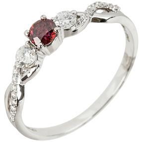 Ring 585 Weißgold Diamant