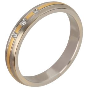 Ring Titan bicolor mit Brillant