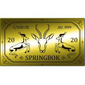 Goldbarren Springbok 2020 - 1/100 oz