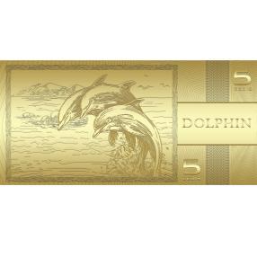 Goldbanknote Delfin