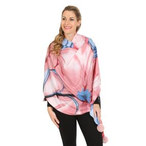 Schal mit Kaschmir rosa