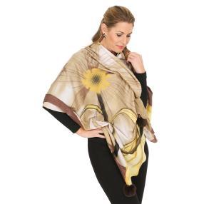 Schal mit Kaschmir beige