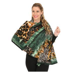 Schal mit Kaschmir grün