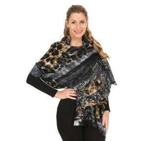 Schal mit Kaschmir schwarz