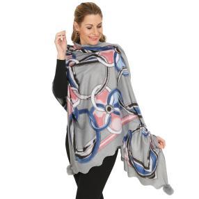 Schal mit Kaschmir hellgrau