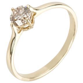 Ring 585 Gelbgold Brillant champagner ca. 0,50ct.