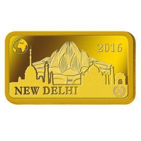1 Gramm Goldbarren New Dehli 2016