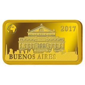 1 Gramm Goldbarren Buenos Aires 2017