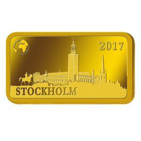 1 Gramm Goldbarren Stockholm 2017