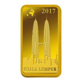 1 Gramm Goldbarren Kuala Lumpur 2017