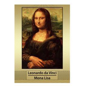 Riesengoldbanknote Mona Lisa, A4 coloriert