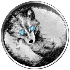 Münze Diamantauge Polarfuchs