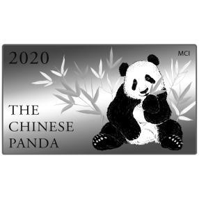 """Silberbarrenbrick """"Panda 2020"""" 100x 1 G"""
