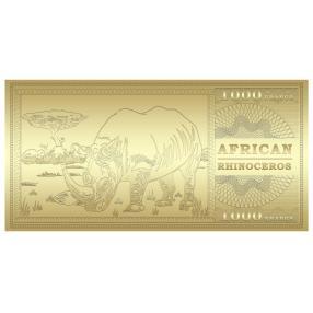 Goldbanknote Nashorn
