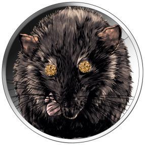 """Münze Diamantauge """"Jahr der Ratte"""""""