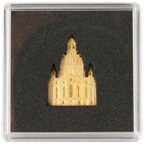 Frauenkirche Dresden Shape Goldmünze