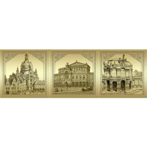 Goldnotenset 3 - Frauenkirche, Zwinger, Semperoper