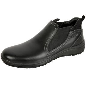 Sanital Light Herren-Lederslipper schwarz