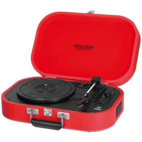 Portabler Plattenspieler, rot