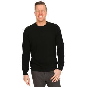 100% KASCHMIR Herrn-Pullover schwarz