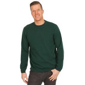 100% KASCHMIR Herrn-Pullover dunkelgrün
