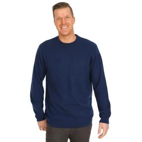 100% KASCHMIR Herrn-Pullover dunkelblau