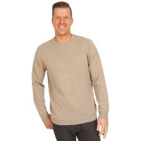 100% KASCHMIR Herrn-Pullover beige melange